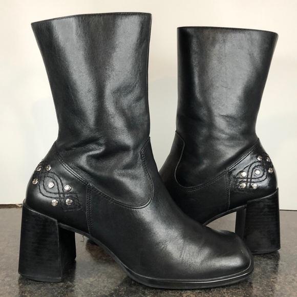 Harley Davidson Chunky Heel Mid Calf
